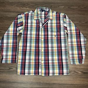 Polo Ralph Lauren Plaid Sleep Pajama Shirt M